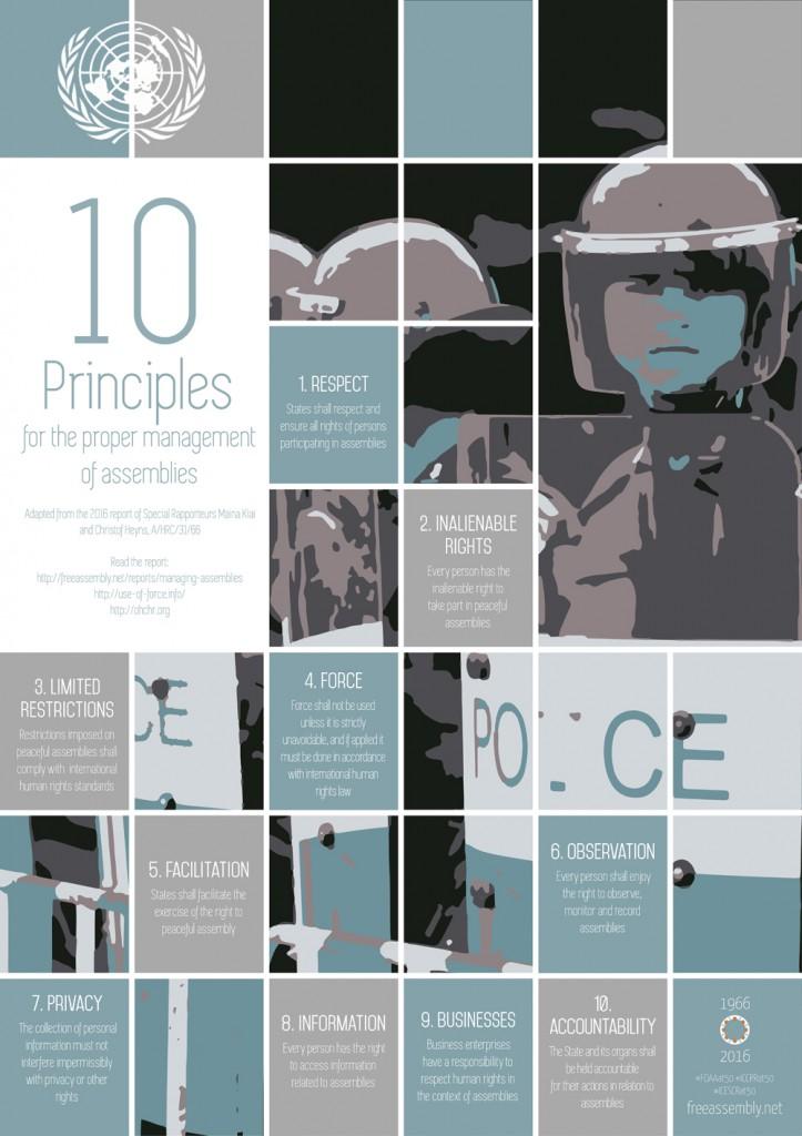 UNHRC | 10 Principles for the proper management of assemblies (2016)